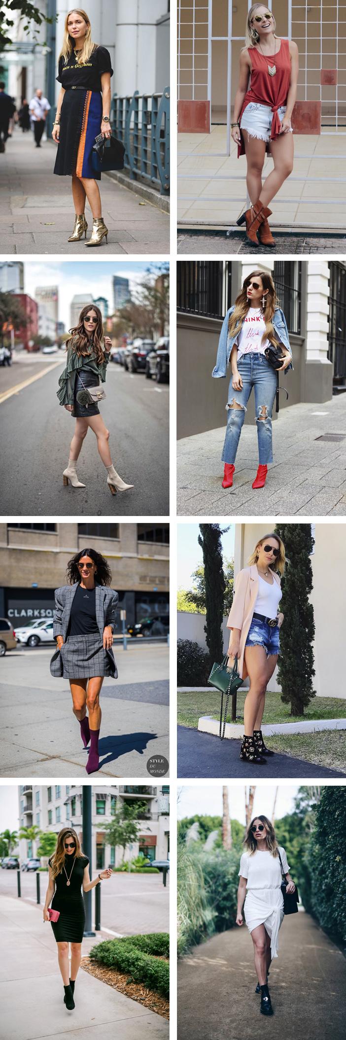 Ideias para usar bota no verão