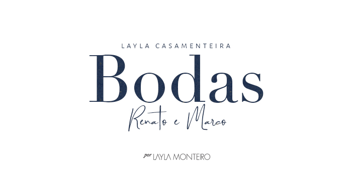 Layla Casamenteira: Bodas Renato e Marco