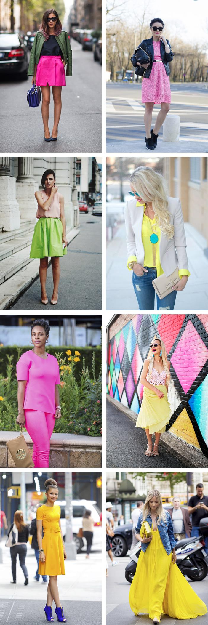 Tendência verão 2019 cores vibrantes