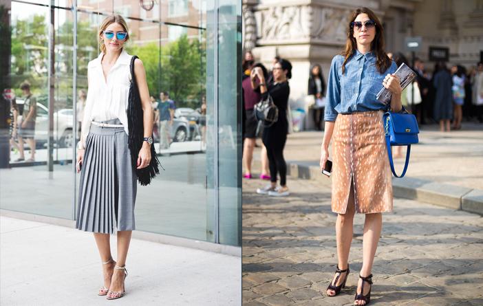 Ideias para looks de escritório com saia