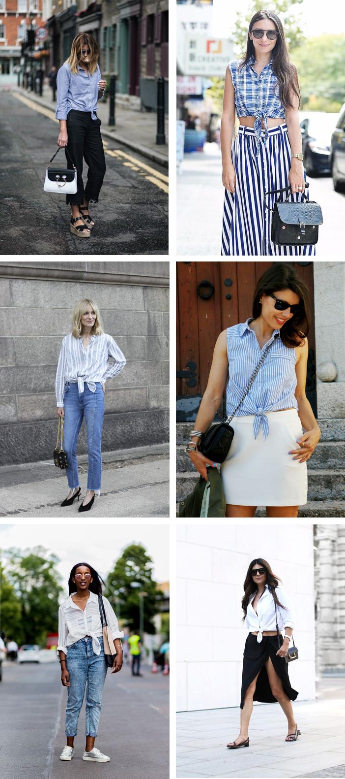 Como usar camisa com nozinho