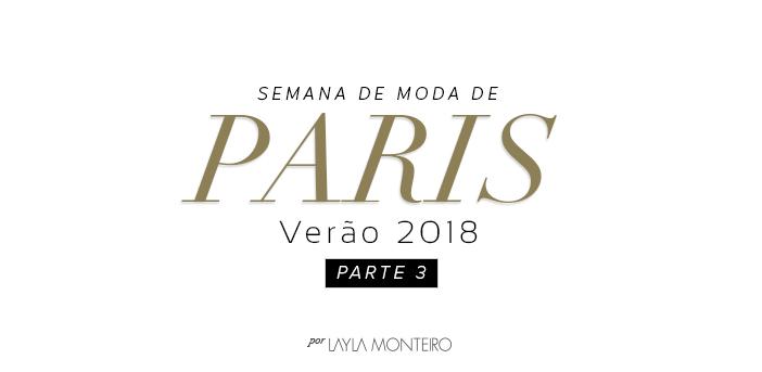 Semana de Moda de Paris - Verão 2019