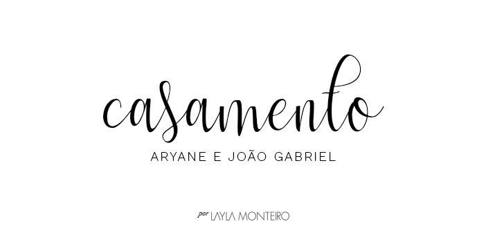 Casamento Aryane e João Gabriel