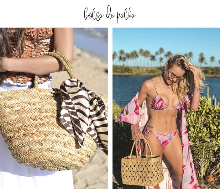 Mala de Praia, O que levar - Bolsa de Palha