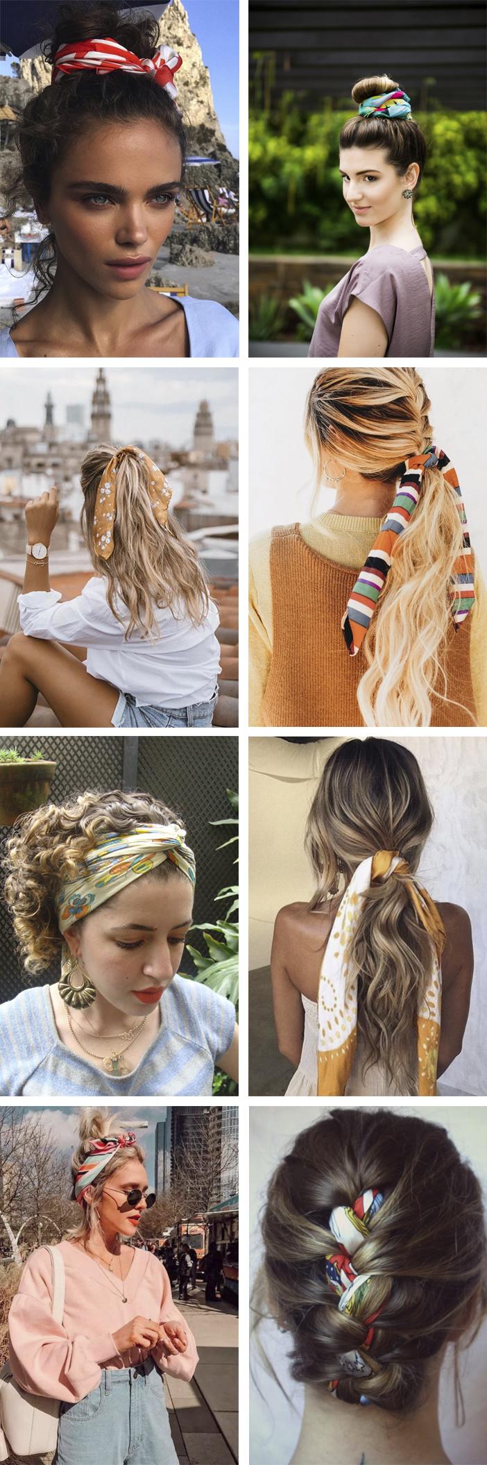 Ideias para usar lenço no cabelo