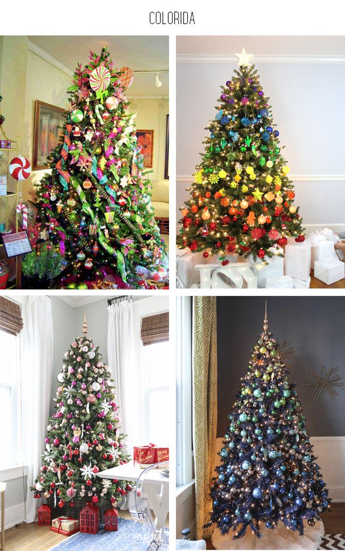 Inspiração - Decoração de árvore de natal: Colorida