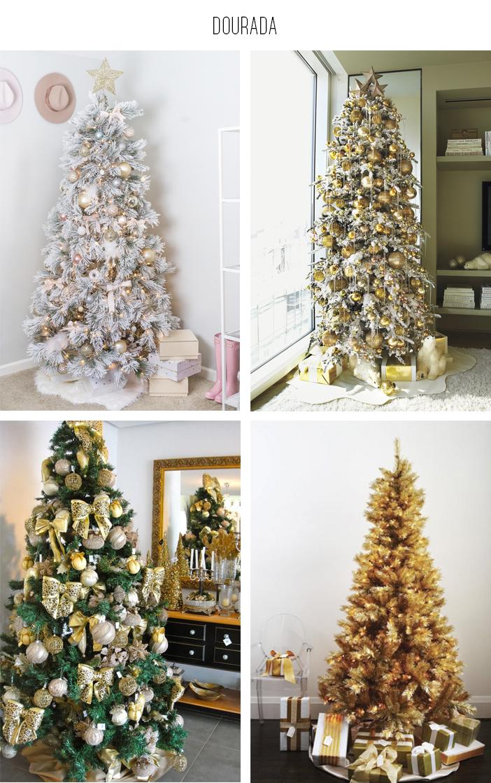 Inspiração - Decoração de árvore de natal: Dourada