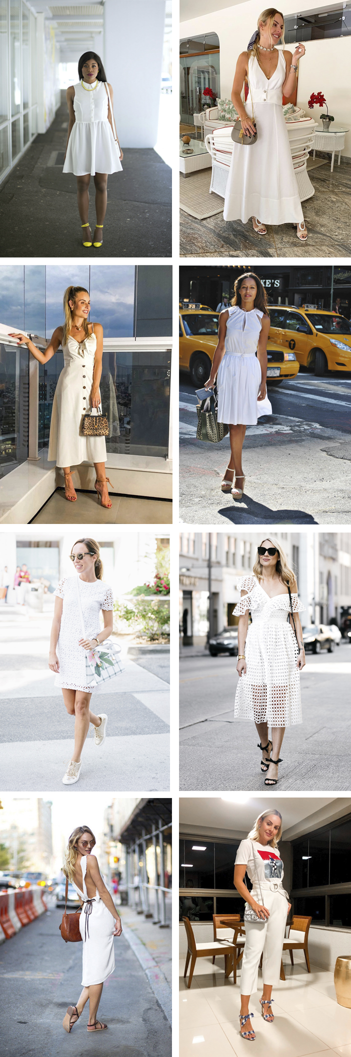 Tendência - Looks brancos para o verão