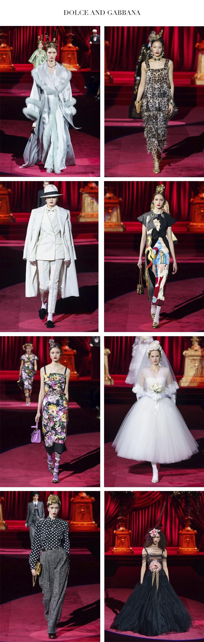 Semana de Moda de Milão - Inverno 2019 - Parte 2 - Dolce and Gabbana