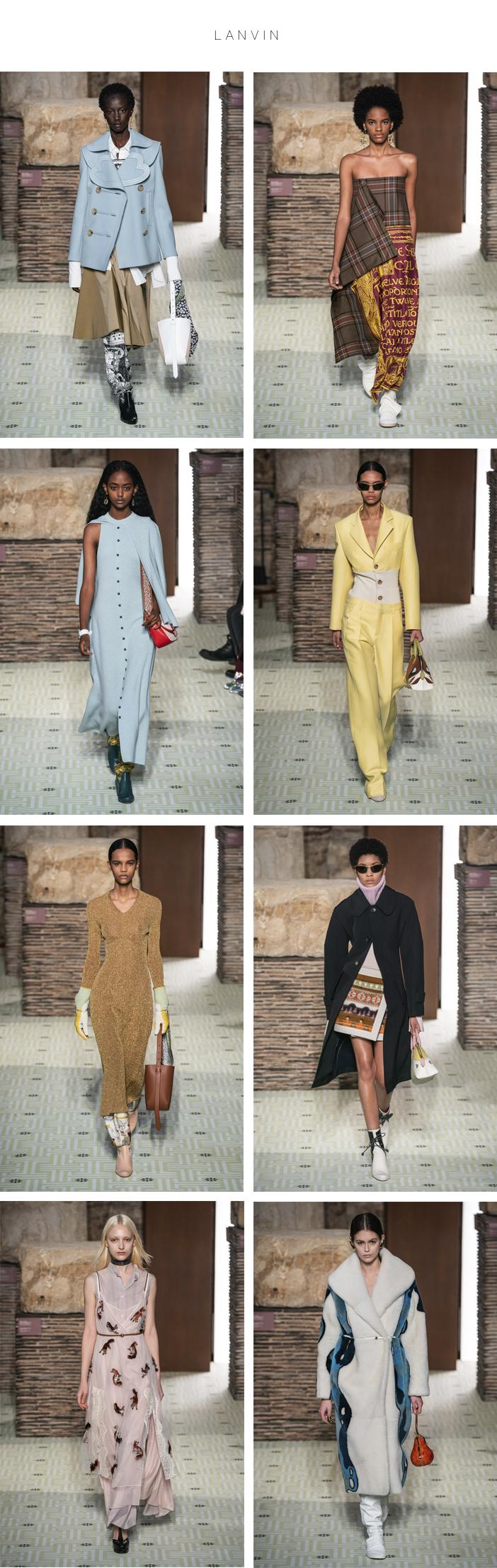 Semana de Moda de Paris - Inverno 2019 - Parte 1 - Lanvin