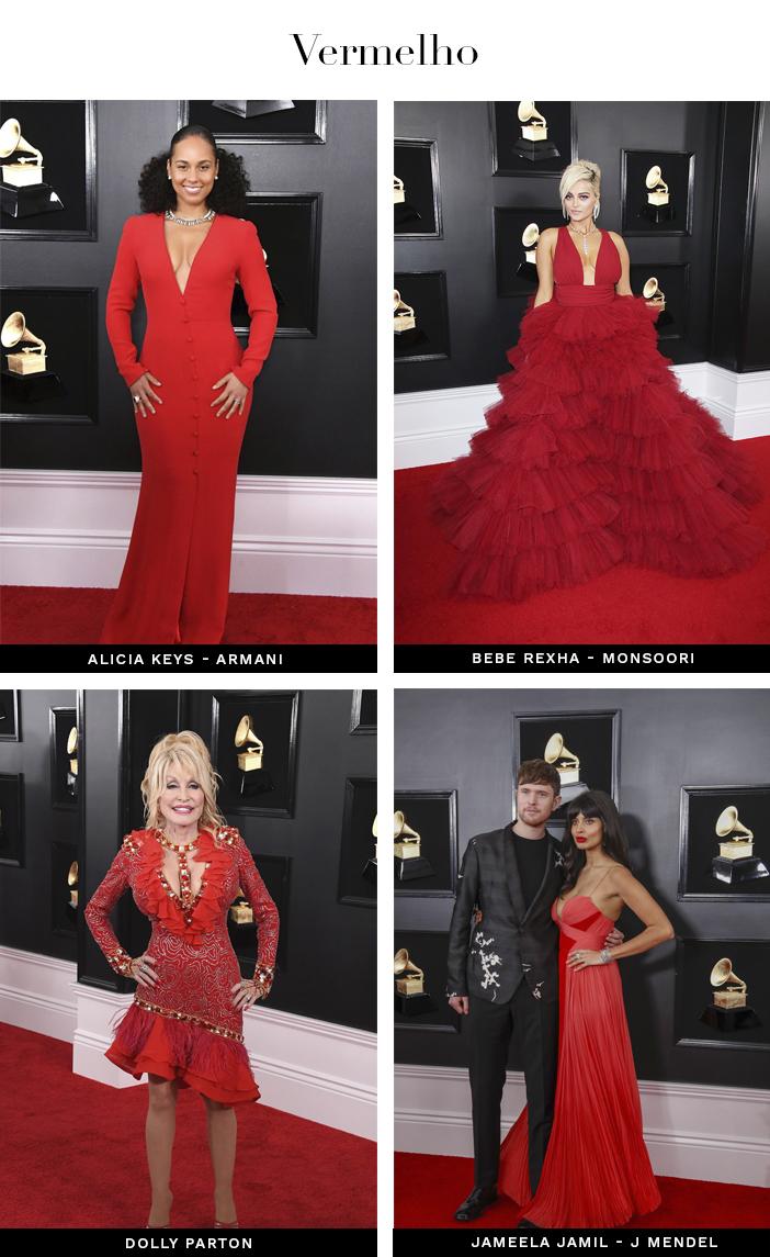 Tapete Vermelho - Grammy 2019 - Vermelho