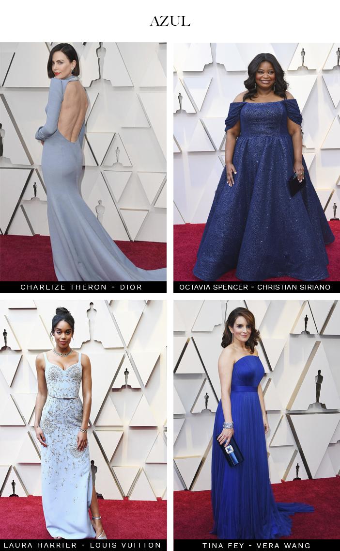 Vestido azul oscar 2019