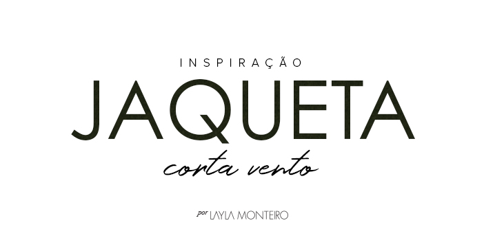 Tendência Inverno 2019 Jaqueta Corta Vento