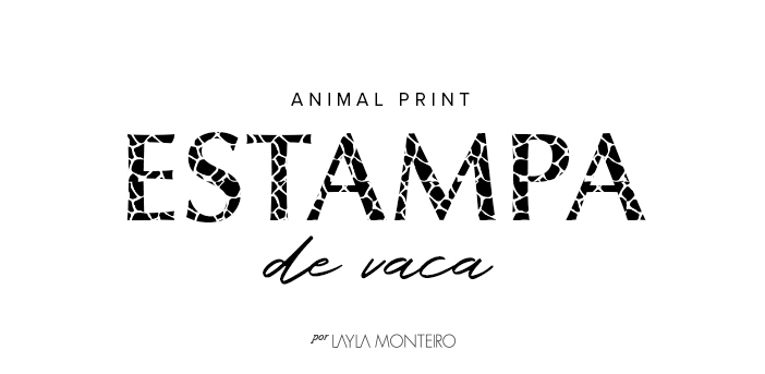 Animal Print - Estampa de Vaca