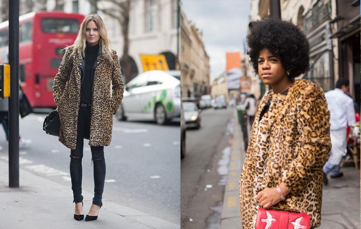 Como usar casaco animal print