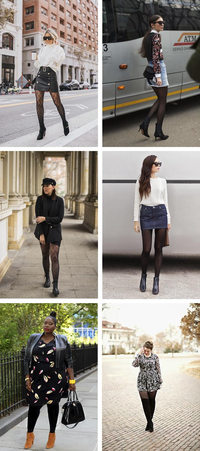 Ideias de looks com meia calça
