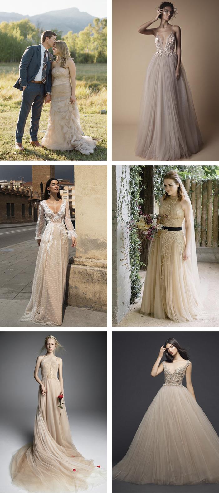 Casamento - Vestido de noiva nude