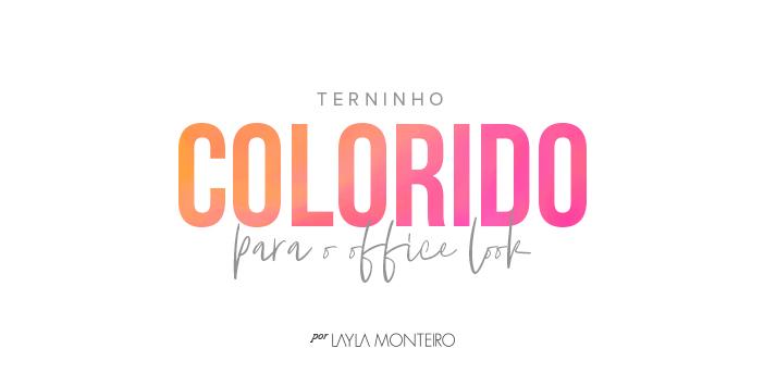 Terninho Colorido Para Office Look