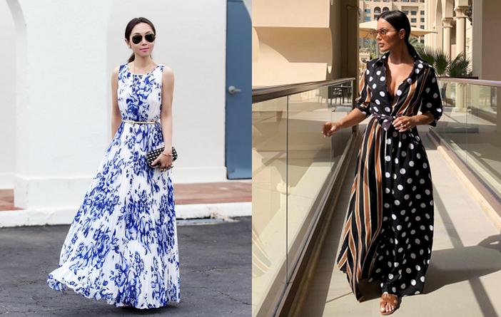 Ideias para usar vestido longo