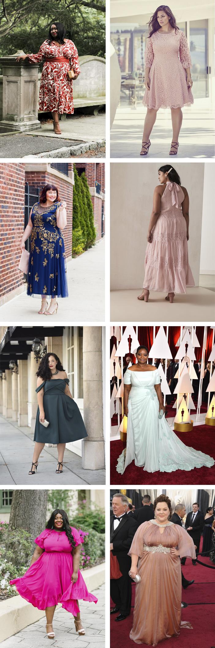 Inspiração - Vestidos de festa plus size