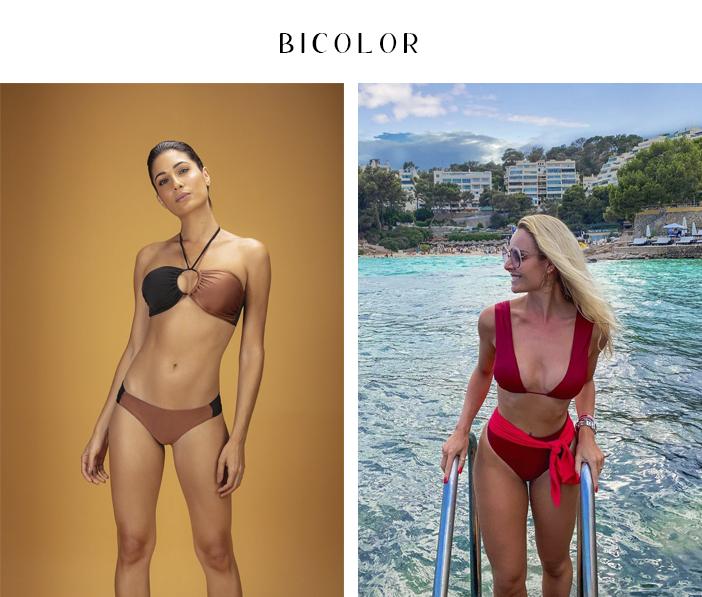 Tendência - Moda Praia 2020 - Bicolor