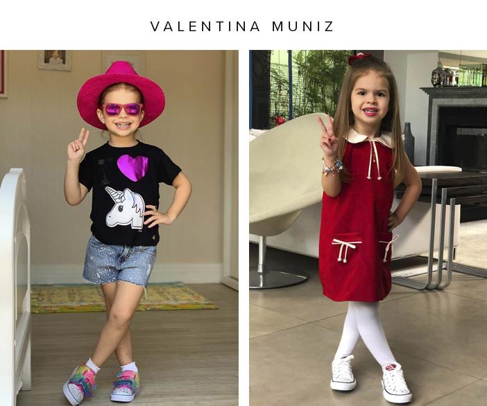 As Crianças Mais Fashionistas do Momento - Valentina Muniz