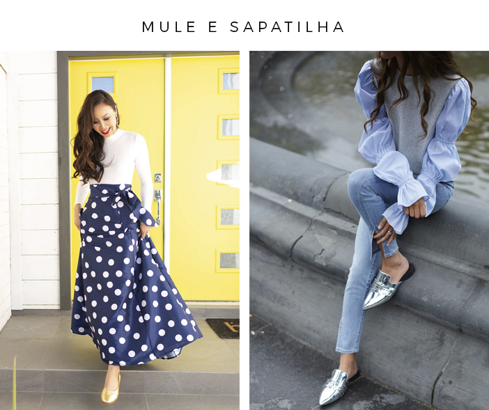 Os Sapatos do Verão 2019-20 - Mule e Sapatilha