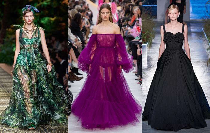 Top vestidos de festa dos desfiles internacionais