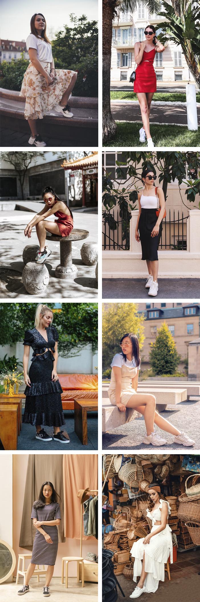 Como Usar Tênis com Vestidos e Saias