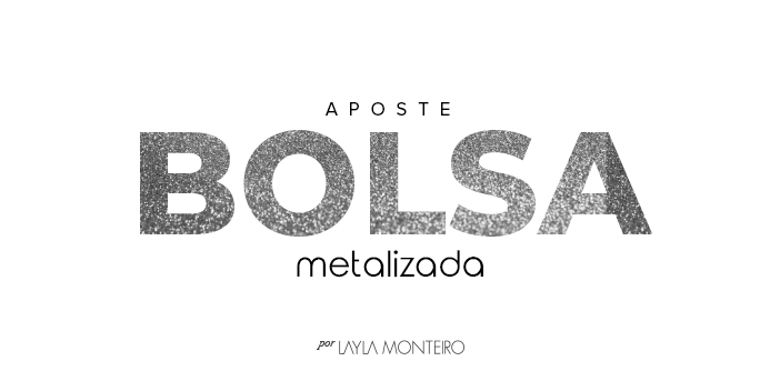 Aposte - Bolsa Metalizada