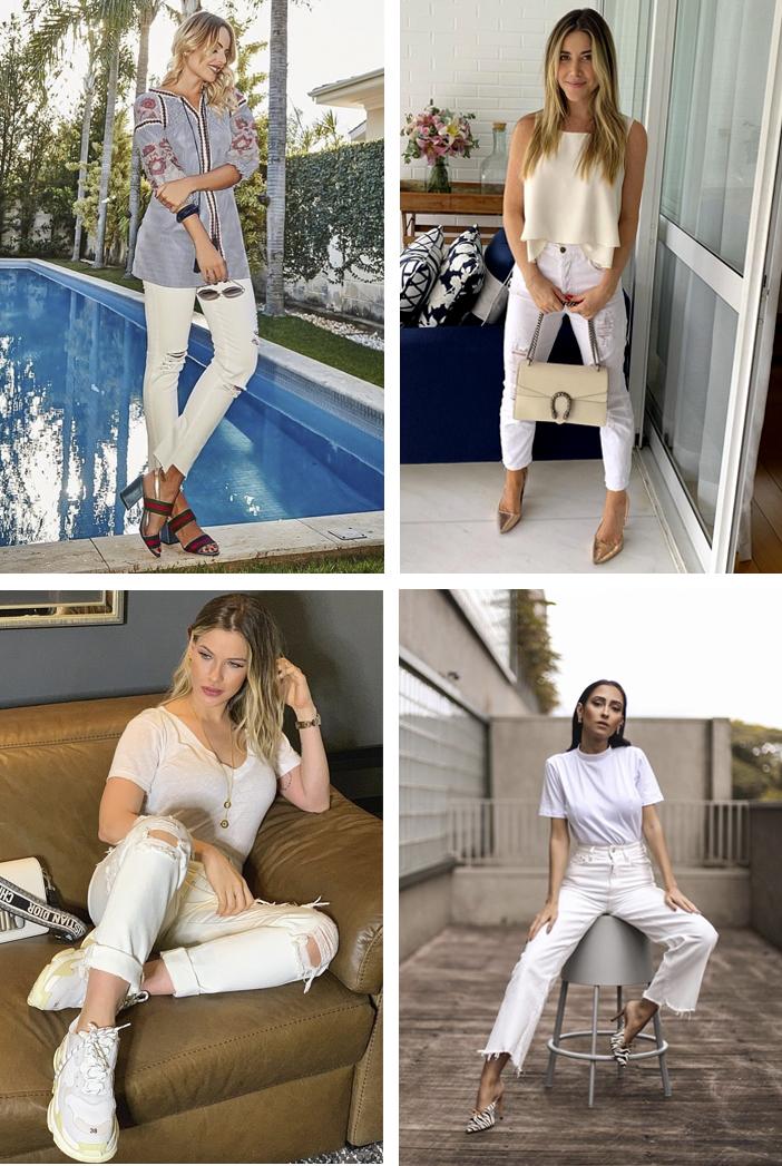 Looks Com Jeans Branco