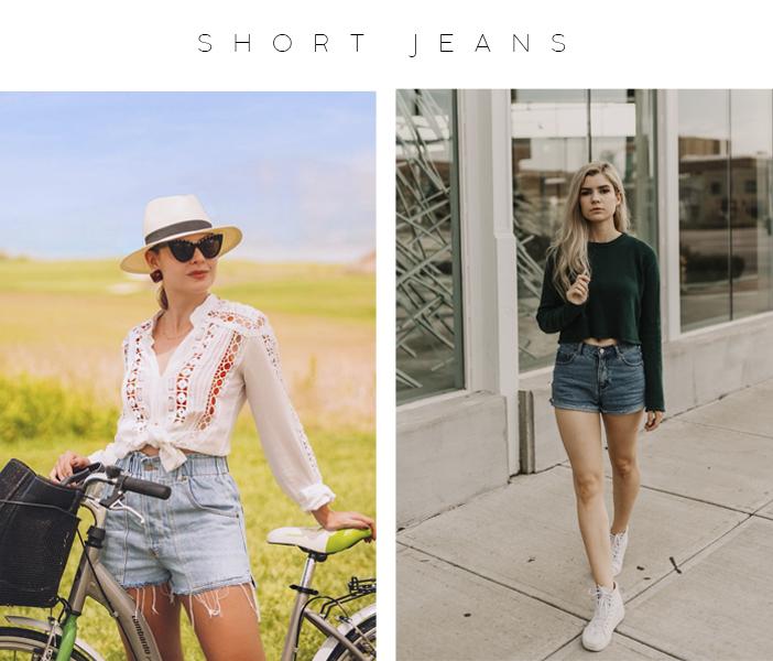 Peças Para Usar Durante Todo o Ano - Short Jeans