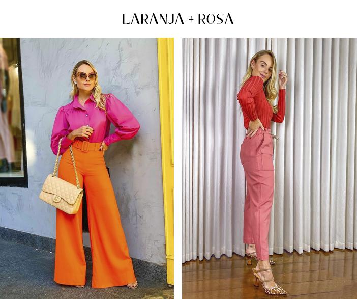 3 Combinações com rosa para testar já! - Laranja + Rosa