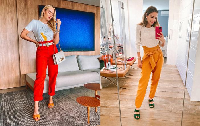 Como usar calça colorida