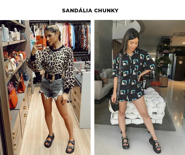 6 Tendências Polêmicas - Sandália Chunky