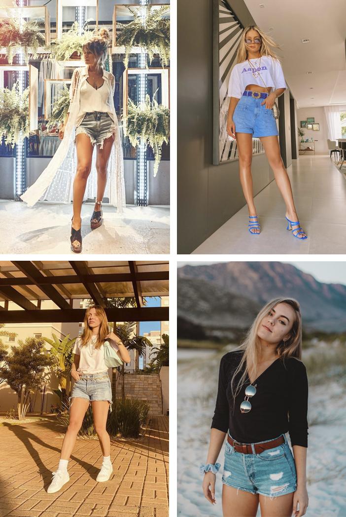 10 Looks com Short Jeans para o Verão