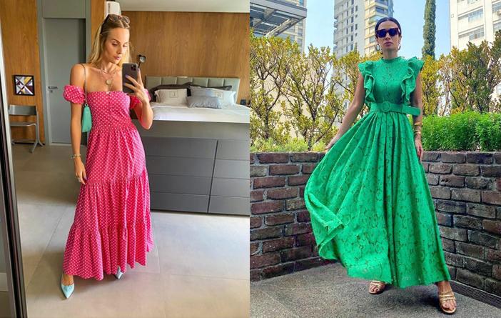 10 Looks com vestido longo