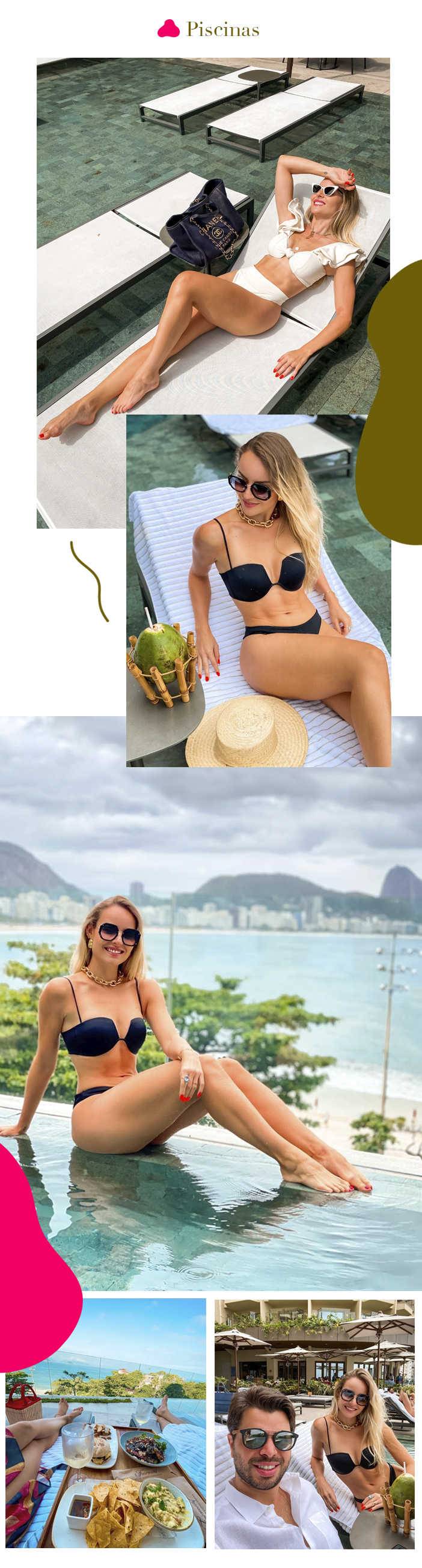 Diário de Bordo - Layla no Fairmont Rio - Piscinas