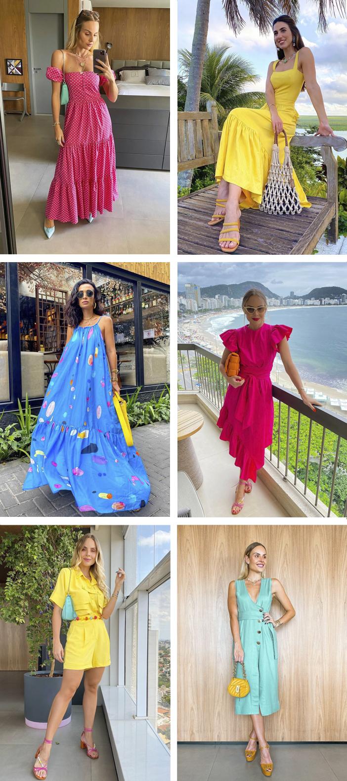 Inspiração de Looks Coloridos para Usar no Verão